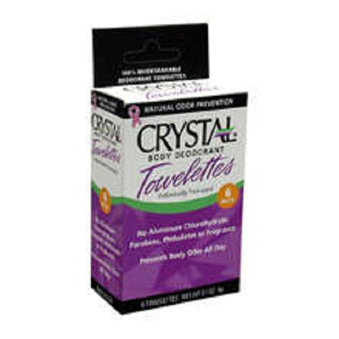 Crystal Body Deodorant Towelettes, 6ct 086449903065G160