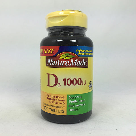 Nature Made Vitamin D3 1000 IU, 300ct 031604026837T892
