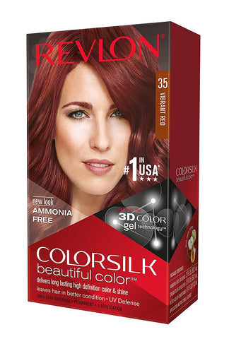 Colorsilk By Revlon Haircolor, Vibrant Red, 1ct 309978456353T262