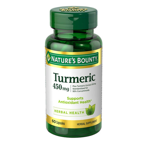 Nature's Bounty Turmeric Curcumin 450mg, 60ct 074312154171S753