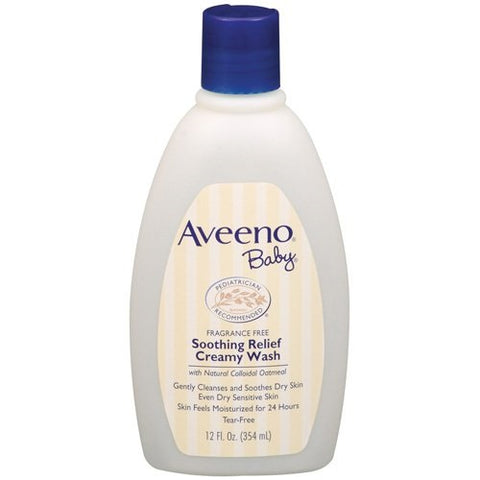 Aveeno Baby Soothing Relief Creamy Wash, 12oz 381371023943S618