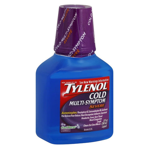 Tylenol Cold Multi-Symptom Severe, Cool Burst, 8oz 300450521088J569