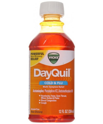 Vicks DayQuil Cold & Flu Liquid, 12oz 323900014367A707