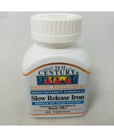 21st Century Iron Slow Release Tablets, 45mg, 60ct 740985273432A175