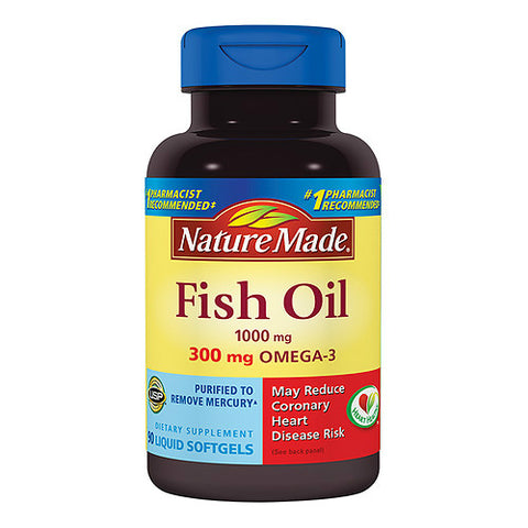 Nature Made Fish Oil Gelcaps, 1000mg, 90ct 031604026622J525