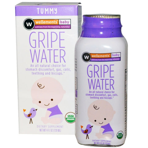 Wellements Baby Gripe Water, Tummy, 4oz 729609019656A635