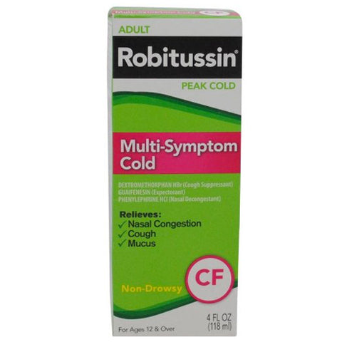 Robitussin Peak Cold Multi-Symptom Cold, 4oz 300318742143T443