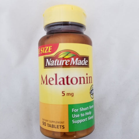 Nature Made Melatonin Tablets, 5mg, 90ct 031604027438A580