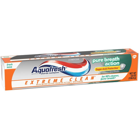 Aquafresh Extreme Clean Toothpaste, Pure Breath, 5.6oz 053100341658A236