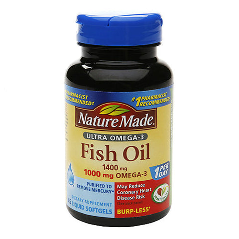 Nature Made Ultra Omega-3 Fish Oil 1400mg 45ct 031604026974A956