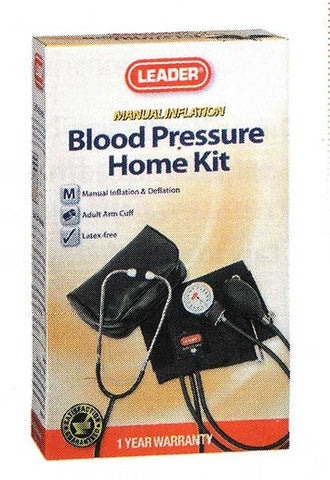 Leader Manual Home Blood Pressure Kit, 1ct 096295129328S1112