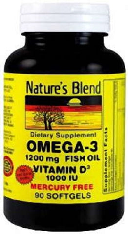 Nature's Blend Omega-3 & Vitamin D3 Softgels, 90ct 079854089936G707