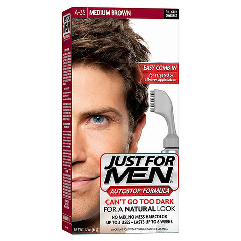 Just For Men Haircolor, Medium Brown A-35, 1ct 011509043115T622