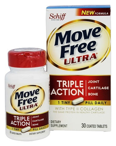 Schiff Move Free Ultra Triple Action Coated Tabs, 30ct 020525118417A2165