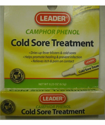 Leader Medicated Cold Sore Treatment Gel, 0.25oz 096295122381A185