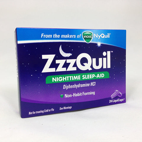 ZzzQuil Nighttime Sleep-Aid, 24ct 323900013995T658