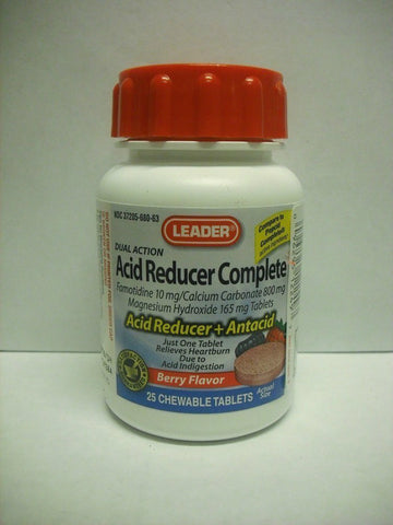 Leader Acid Reducer Complete Chewable Berry 25ct 096295122497A545