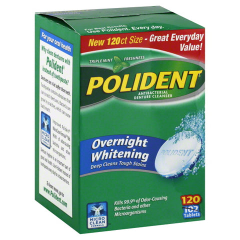 Polident Overnight Cleanser, 120ct 310158034490S592