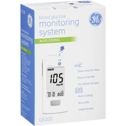 GE100 Blood Glucose Monitoring System, 1ct 883489000781S825