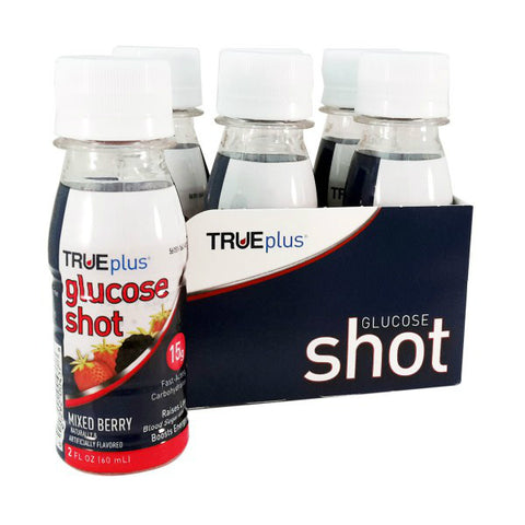 TRUEplus Glucose Shot, Mixed Berry, 2oz, 6ct 021292004378A999