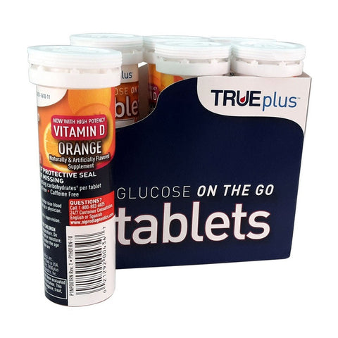 TRUEplus Glucose on the Go Tablets, Orange, 6ctX10ct 021292004347A700