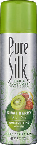 Pure Silk Shave Cream for Women, Kiwi Berry Bliss, 8oz 051009309878T160