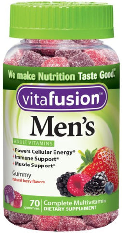 Vitafusion Men's Daily Multivitamin, Gummies, 70ct 027917022611T427