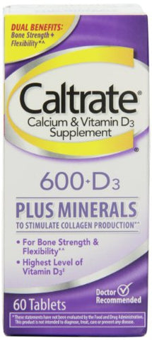 Caltrate 600+D Plus Minerals Calcium, Tablets, 60ct 300055556195S632