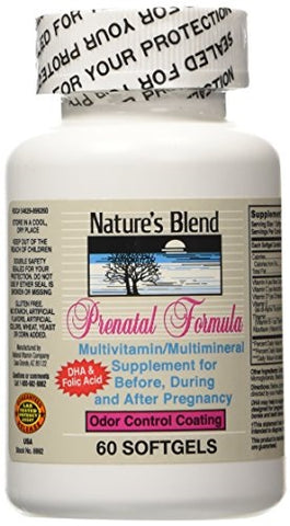 Nature's Blend Prenatal w/Iron Softgels, 60ct 079854089929S617