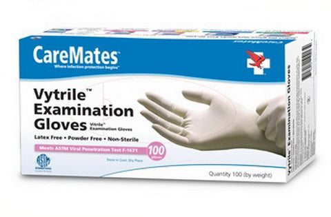 CareMates Vytrile Examination Gloves, Small, 100ct 715912104110A639