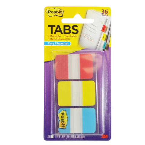 3M Post-It Durable Tablets, Assorted Colors, 36ct 021200984020A198