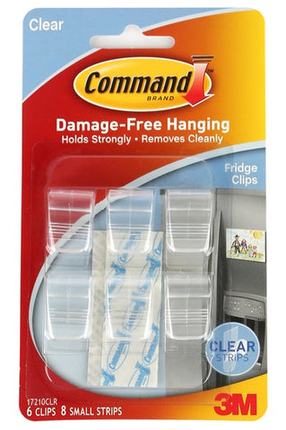 Command Fridge Clips, 6ct 051141943138A230