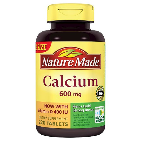 Nature Made Calcium w/Vit. D Tablets, 600mg, 220ct 031604012120A1209