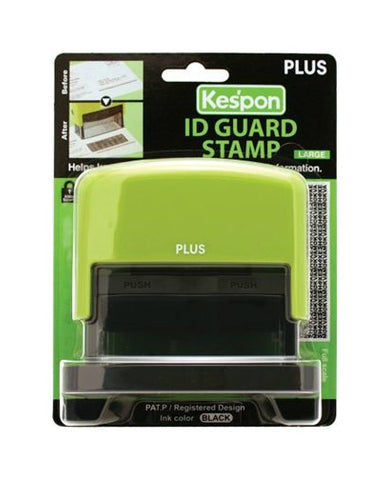 Kespon Guard Your ID Stamp, Large, Green, 1ea 893357000706S1192
