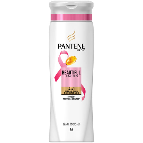 Pantene Pro V 2-in-1 Beautiful Lengths Shampoo, 12.6oz 080878171064A308
