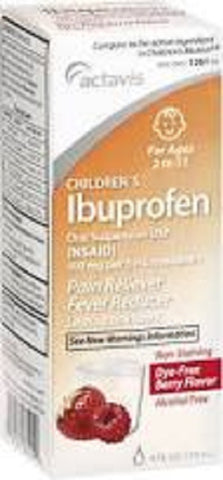 Actavis Children's Ibuprofen Oral Liquid, Berry, 118ml 304721261949S307