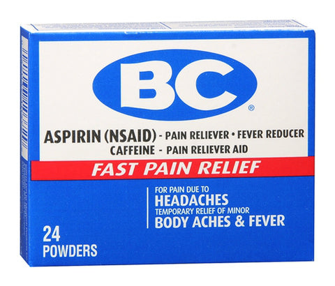 BC Aspirin, Fast Pain Relief, Powders, 24 ct 042037103729S278