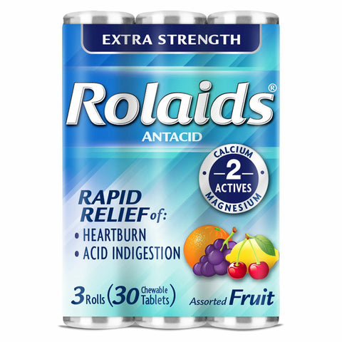 Rolaids Extra Strength Chewable, Fruit, 3X10ct 041167100233S117