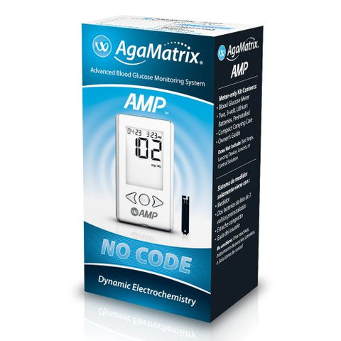 AgaMatrix Amp Blood Glucose Monitor System, 1ct 385544025017S849