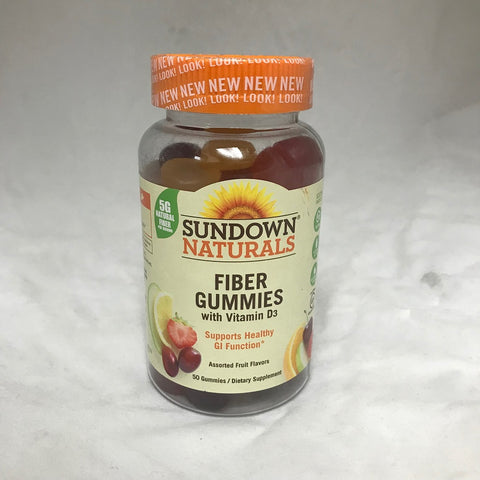 Sundown Naturals Fiber Gummies, Orange, 50ct 030768525316T647