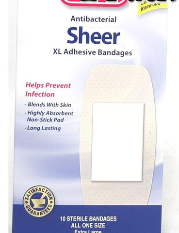 Leader Sheer XL Adhesive Bandages, 2inchX4inch, 10ct 096295123951A122