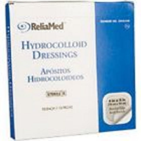 "ReliaMed Hydrocolloid Dressing w/TFB 4""x4"", 10ct 842167018210S3248"