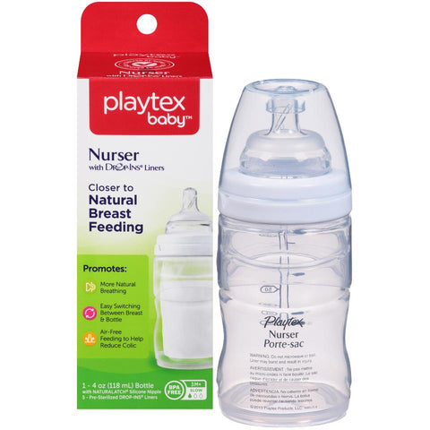 Playtex Nurser Bottle (1), Drop-Ins Liners (5) 1Kit 078300058878A321