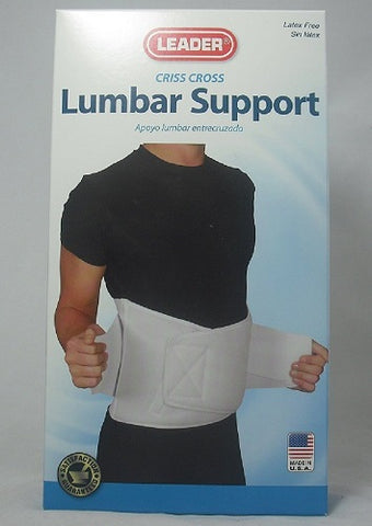 Leader Criss Cross Lumbar Support, White XLarge, 1ct 096295124392S2102