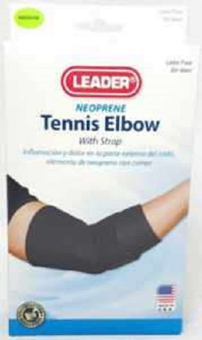 Leader Tennis Elbow Support w/Strap, Black Med, 1ct 096295124569S817