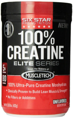 Six Star Elite Series 100% Creatine, Unflavored 631656703641A843