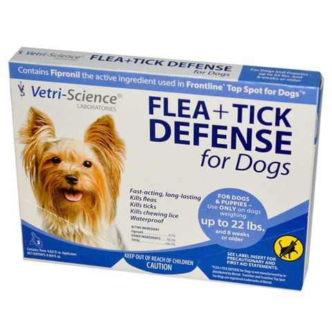 21st Century Flea + Tick Defense Dogs up to 22 lbs 3ct 026664000507T1526