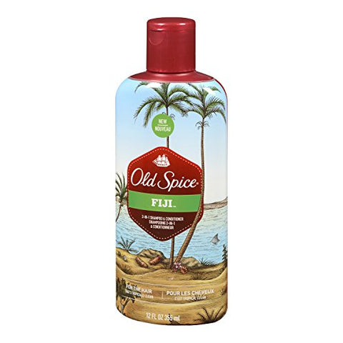 Old Spice Fiji 2-in-1 Shampoo & Conditioner, 12oz 012044040515S366