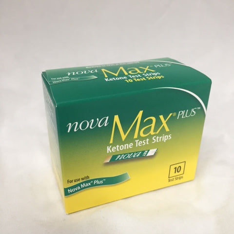 Nova Max Plus Ketone Test Strips, 10ct 385480534932A1699