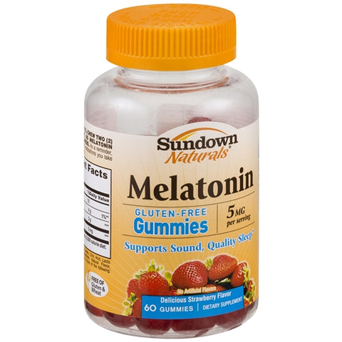 Sundown Naturals Melatonin 5mg, Strawberry, 60ct 030768535032G592